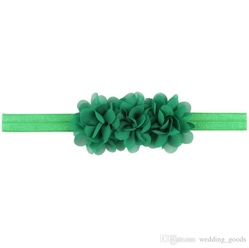 En iyi hediye Yeni bebek saç şifon çiçekler TG111 mix ile bebek saç kemer kafa mix sipariş 30 parça çok