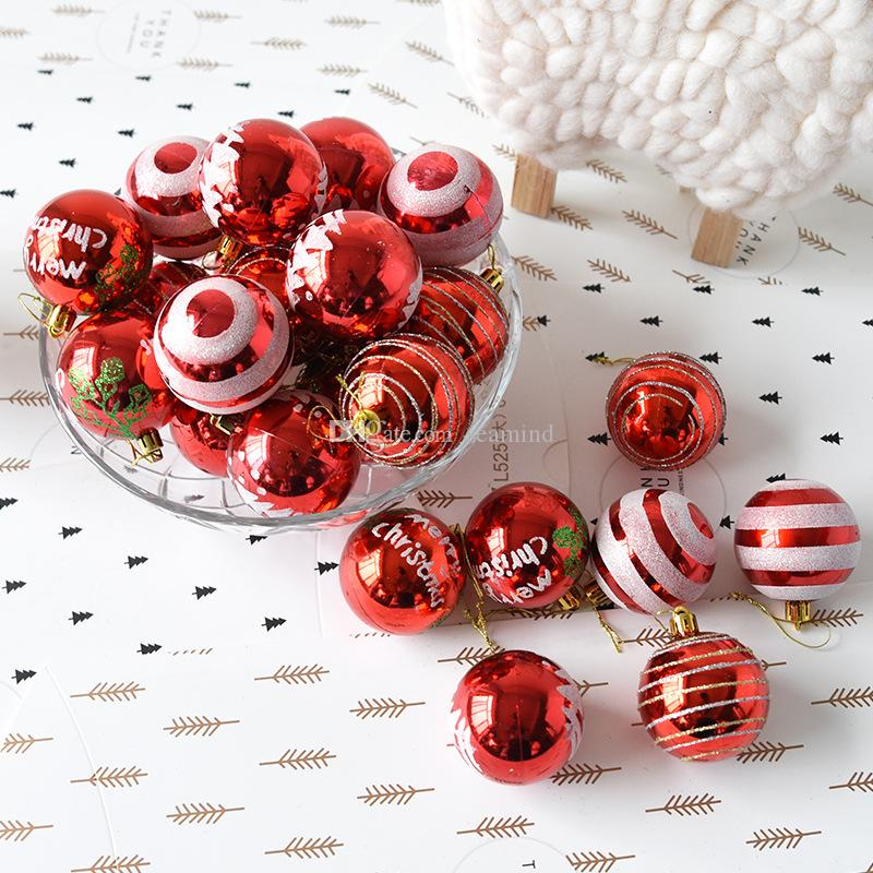 6cm modern christmas tree ball baubles electroplating colored xmas party wedding hanging ornament christmas decoration supplies christmas decoration shop