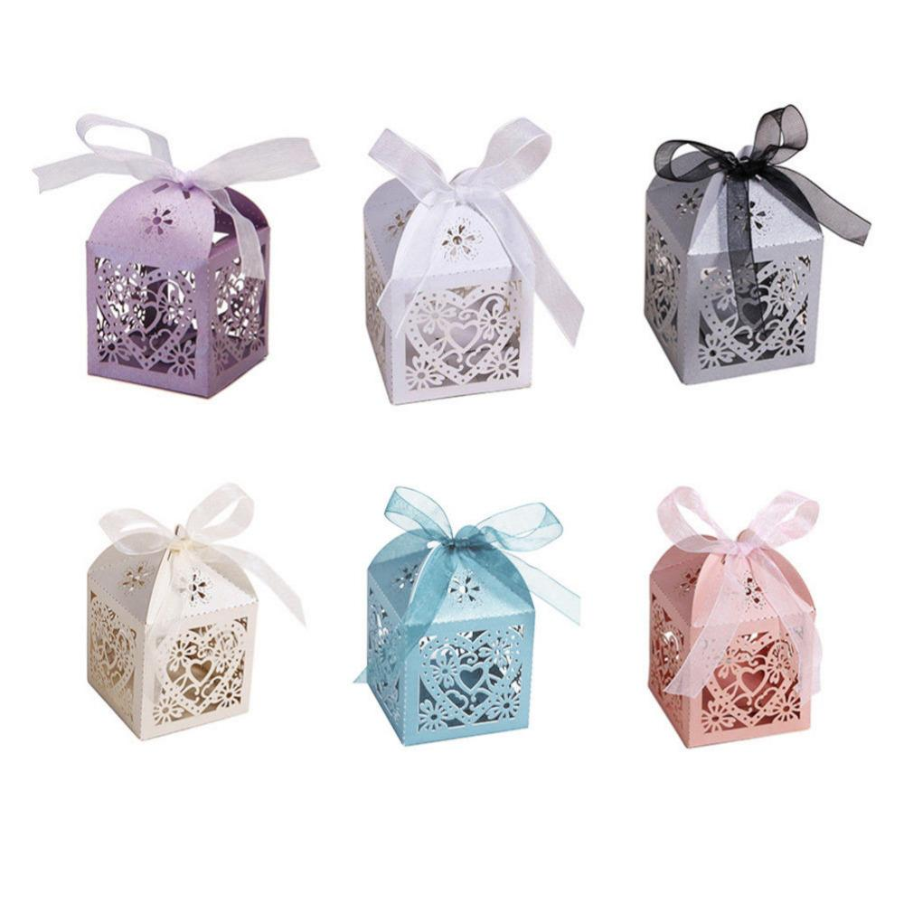 Wholesale Wedding Candy Box Hollow Carriage Love Heart Party Wedding ...