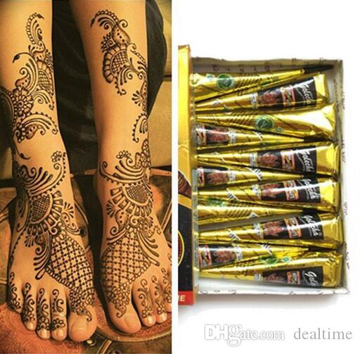 2017 new black indian henna tattoo paste tube cone body art 2017 new black indian henna tattoo paste tube cone body art temporary 25g draw on body by yourself dhl tattoo supply europe tattoo wholesale supplies from solutioingenieria Gallery