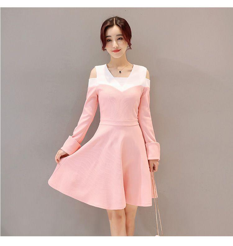 Compre 2017 Primavera Estilo Coreano Nuevas Mujeres Fuera Del Hombro ...
