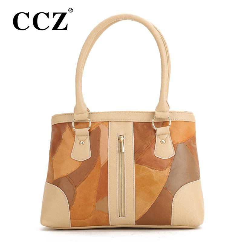 Wholesale CCZ New Fashion Women Patchwork Leather Handbag Casual Women S  Shoulder Bags Stylish Ladies Tote Woman Handbags Bolsos HB307F Shoulder Bags  Laptop ...