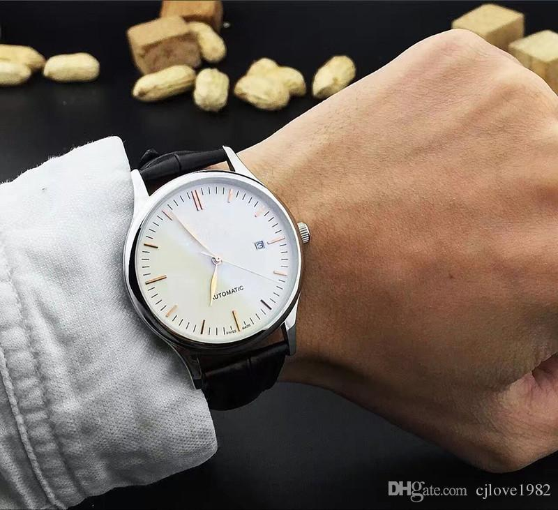 Rodada de alta qualidade moderna moda rodada relógio de pulso dos homens máquina totalmente automático multi-função máquina de núcleo de minerais desgaste colorido espelho WG