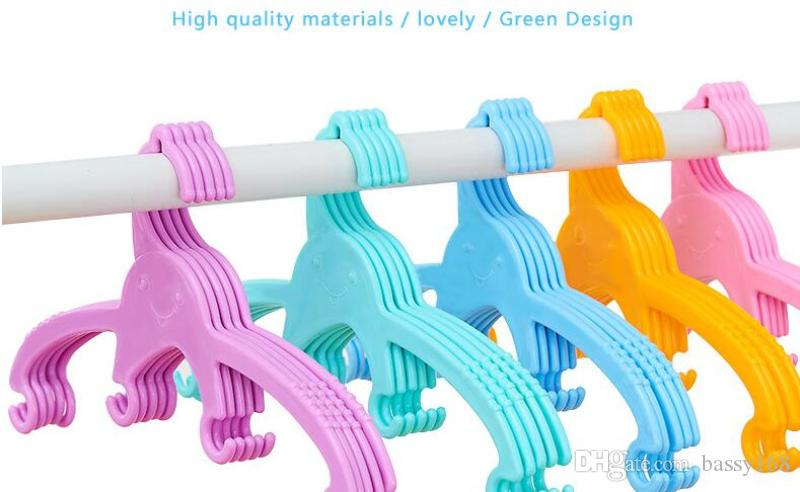 Octopus children hangers colorful Baby Kids Infant Newborn Pets Dogs Cats PP Clothes Hanger Storage Racks