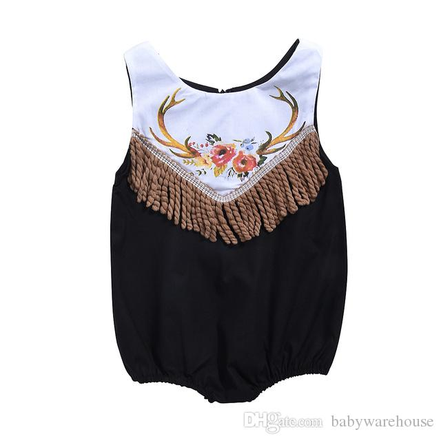 109af2804158 2019 Cute Newborn Baby Girl Rompers Tassel Sleeveless Jumpsuit Back Zipper  Romper Toddler Clothing Kids Sunsuit Outfit Baby Girl Clothes From  Babywarehouse