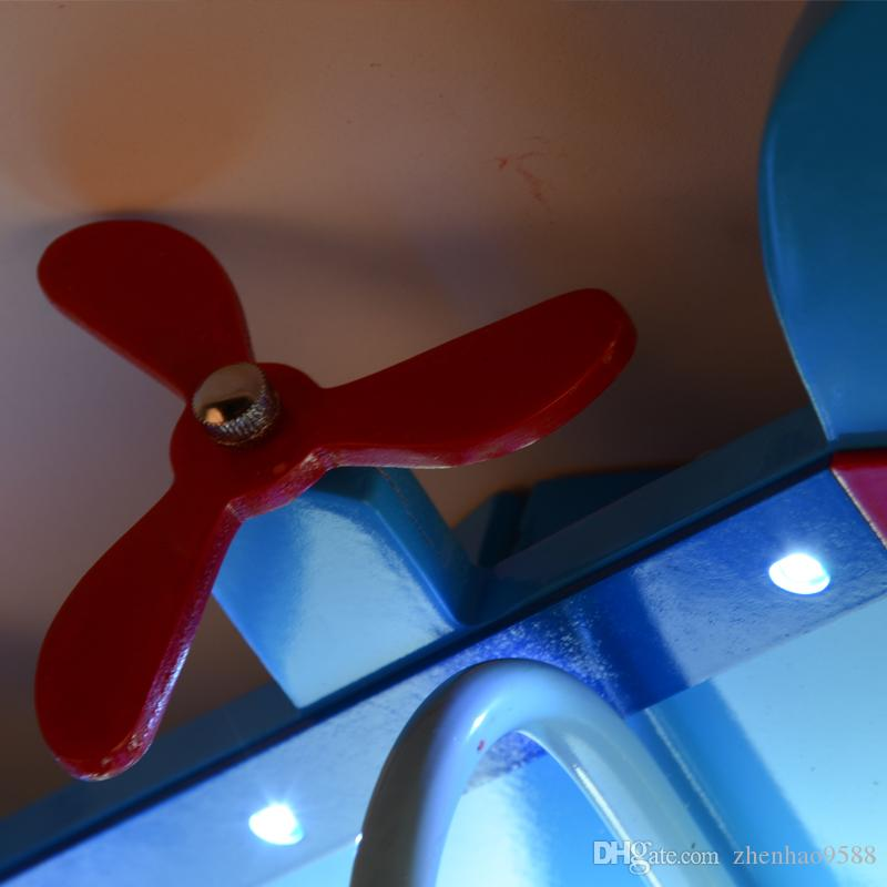 Modern LED Boy& Girl Cartoon Airplane Ceiling Lights Master Bedroom Creative Pastoral Children's Room Lighting