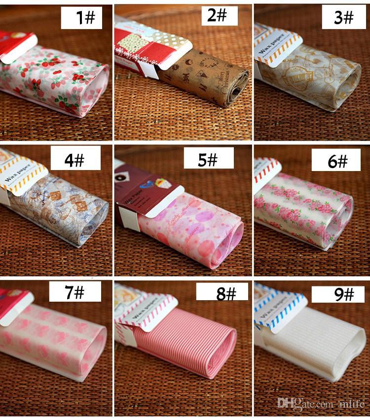 50 folhas 21.8 * 25 cm Wax Papel De Embrulho De Alimentos De Papel De Embalagem Sabão Papel De Embalagem De Alimentos Sanduíche Sheets Fontes Do Evento Do Partido