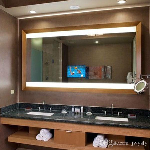 Home Decor Hilton Hotel Bathroom Restroom Shower Aluminum Full Length Led Lighted Illuminated Mirror With Defogger Bath Mirrors From Jwysly