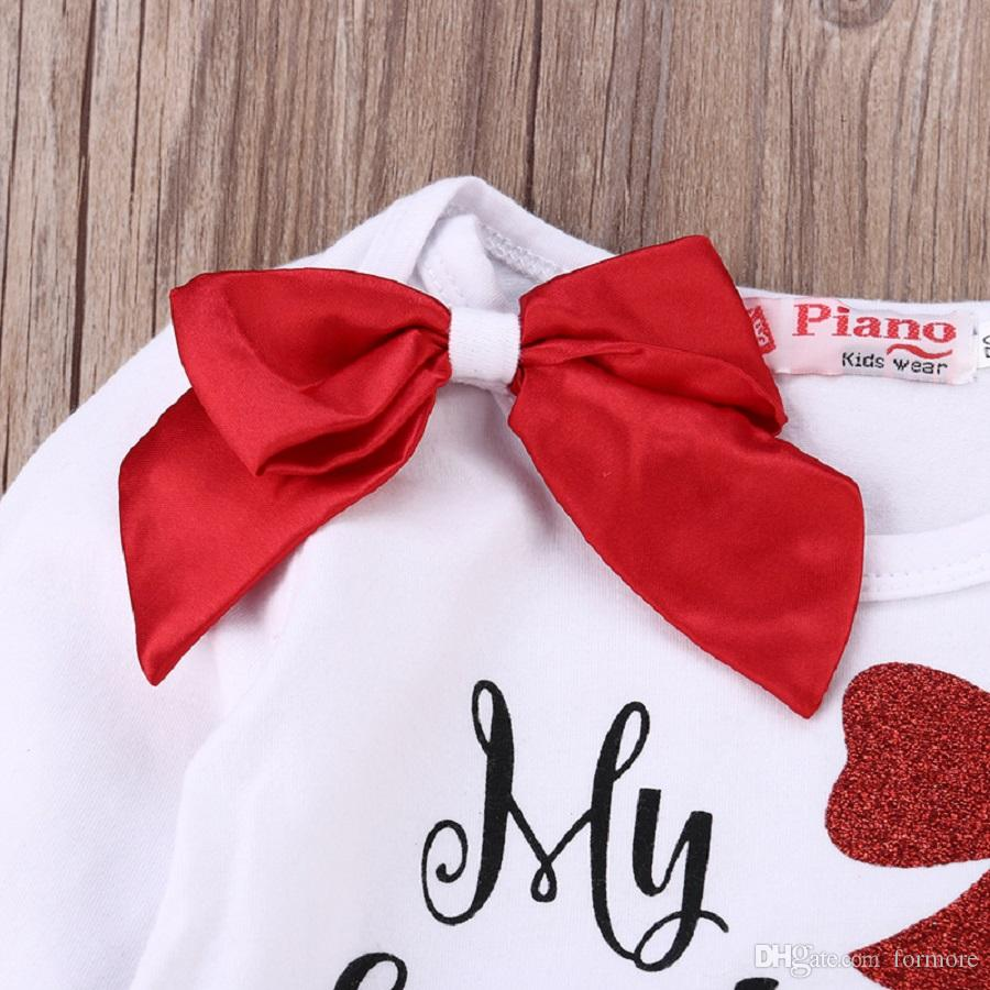 Natale Neonato Grils Vestiti Del Bambino Pagliaccetto Suit Legging Warmer Onesies Infant Long Sleeve Body Boutique Capodanno Pigiama