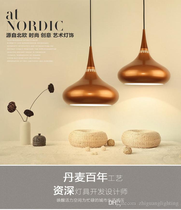 North European single head dining room living room light modern simple bar bar rose gold lighting coffee shop hanging lamp