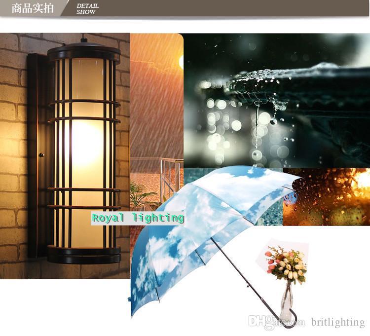 Café Retro Black Outdoor Wandleuchte American Vintage Glas Garten Licht Balcoly bar antike wasserdichte Outdoor-Wandleuchte