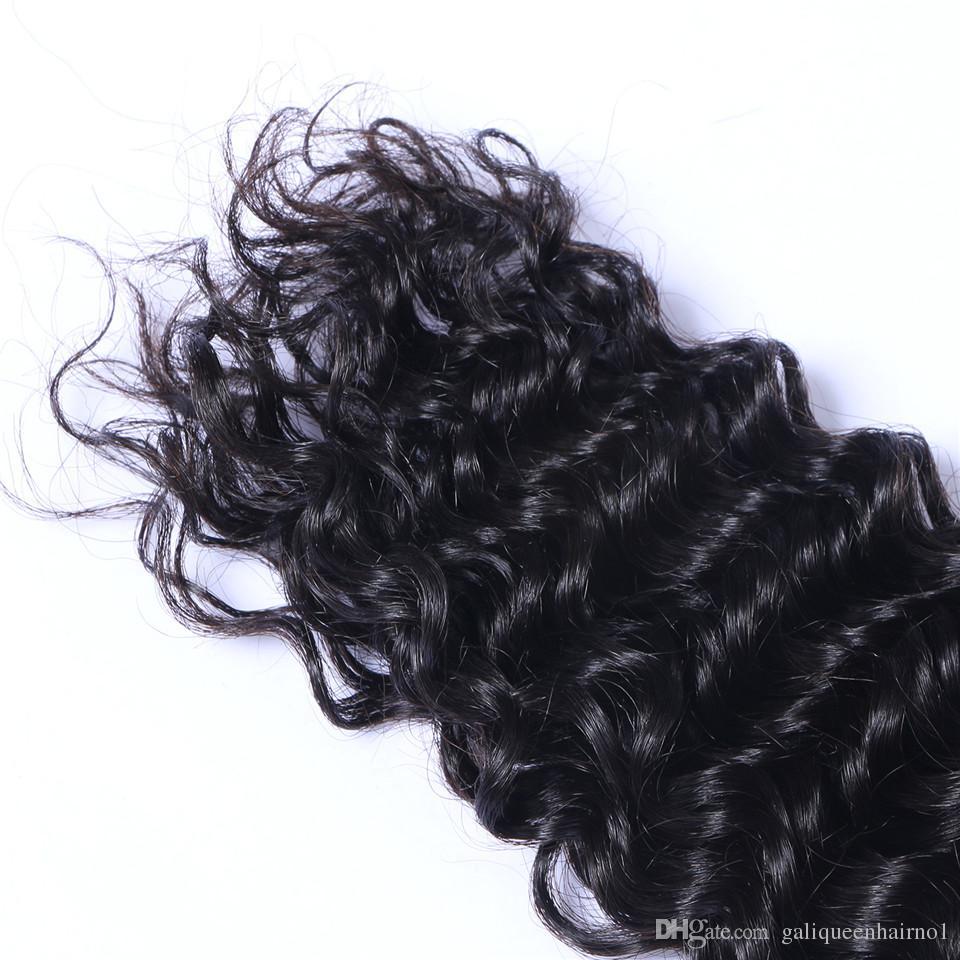 13x4 ile brezilyalı Derin Dalga İnsan Saç Örgüleri Dantel Frontal Kulağa Tam Kafa Doğal Renk Boyalı İşlenmemiş Insan Saçı Olabilir
