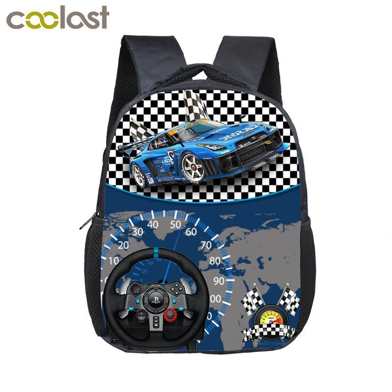 d95d5552c6 12 Inch Cute Racing Car Toddler Backpack For Kids Children School Bags Baby  Kindergarten Cartoon Backpacks Kids Book Bag Schoolbags Gift School Bags  For ...