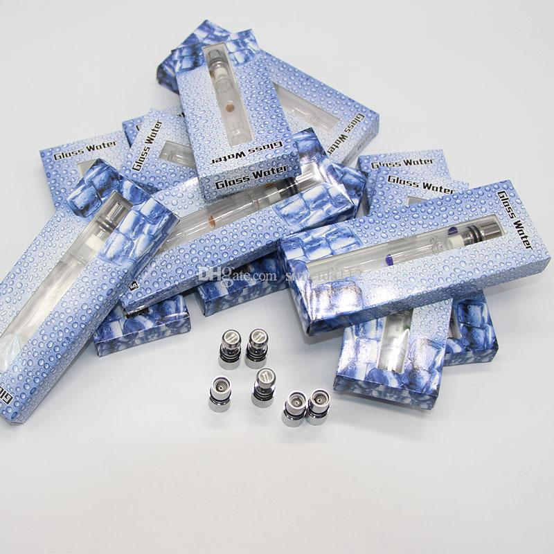 Pyrex Glass Water Atomizer Hookah Pen Smoking Pipes E Cig Tank Dry Herb Wax Vaporizer Glass Shisha Atomizer for EGO Evod Battery