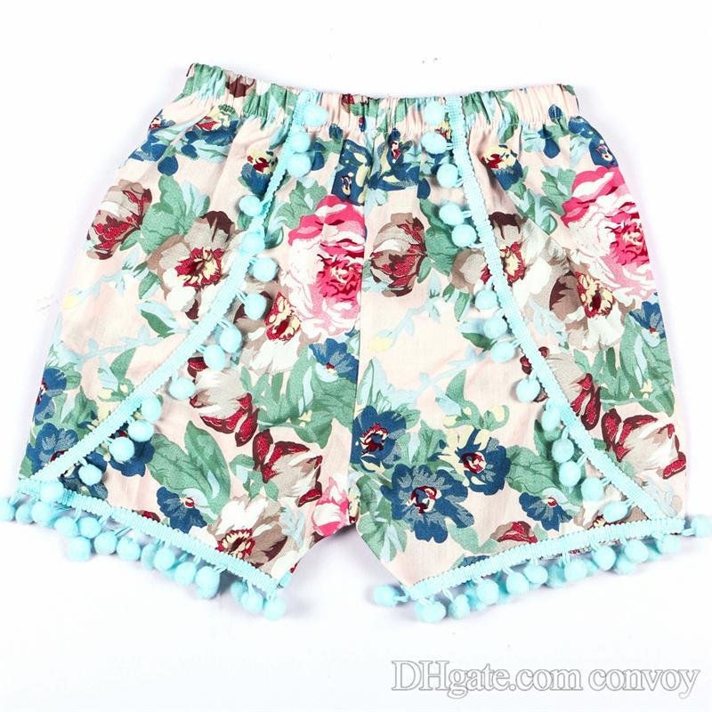 Neue Baby-Blumenshorts elastische Taillen-beiläufige Hosen-Art- und Weisesommer-Kurzschluss-Kind-Kleidung scherzt pp. Hosen-Mädchen-Abnutzungs-Babykleidung KTS04