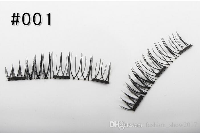 El más nuevo Triple 3D Pestañas magnéticas Imán Pestañas magnéticas Pestañas postizas Pestañas magnéticas Kit de maquillaje Regalo