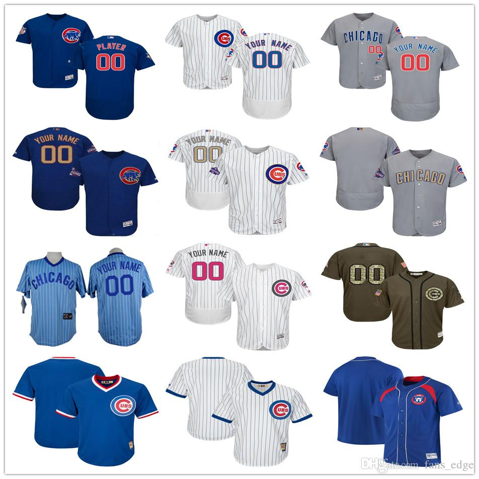 2bb7e611501 ... 2017 Best Customized Chicago Cubs Jersey Shirt Men Women Youth Kids  Custom Any Name Number Stitched Womens Chicago Cubs Majestic White Home Cool  Base ...