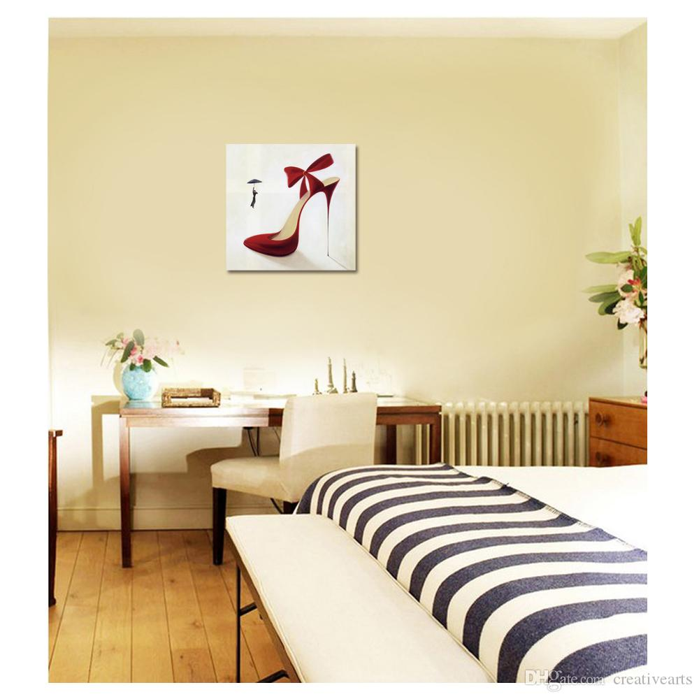 Red High Heels Canvas Prints Artistic Decoration Fashionable ...