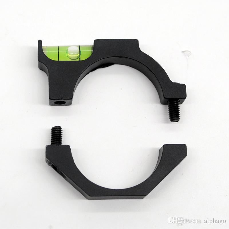 Alloy Scope Bubble Level encaja 30mm / 25mm Scope Laser Sight Tube para Scope Hunting Accesorios Envío gratis