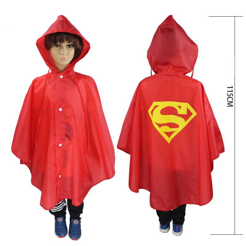 Hot sale Kids Rain Coat children Raincoat Rainwear Rainsuit Kids Waterproof Superhero Raincoat DHL