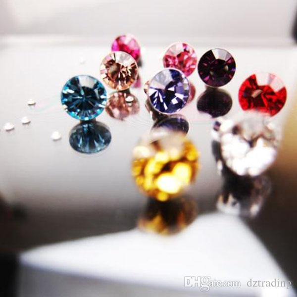 Universal 3,5 mm Diamant Staub Plug Cap Bling glänzende Kopfhörer Anti Staub Plug 3000St