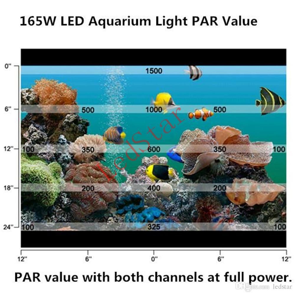 2017 Nouvelle Arrivée 165W 300W led lumière d'aquarium 55 * 3 W / 60 * 5 W Leds lampe récif de corail Grow Light réservoir de poissons haute puissance LED Aquarium Light