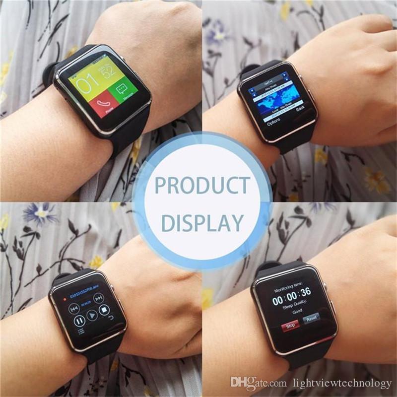 X6 bleutooth smart watch pulseira telefone com slot para cartão sim tf com câmera para samsung iphone android ios smartwatch