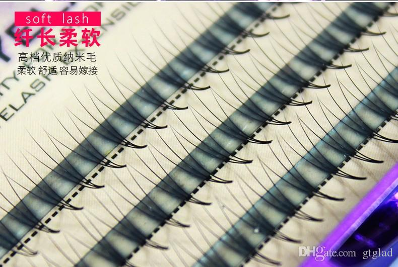 Volume 3D False Eyelashes 1-1.5cm 0.07mm Thickness Hair Mink Strip Individual False Eyelashes Extensions with Party makeup 8-14mm