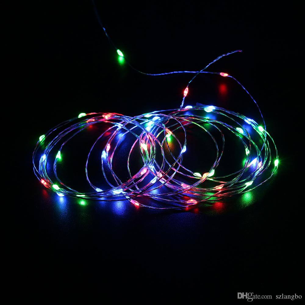 5m Led String Usb Plug Silver Wire Dc5v With Cable Holiday Wiring A Lighting Outdoor Decoration Waterproof For Christmaswedding Commercial
