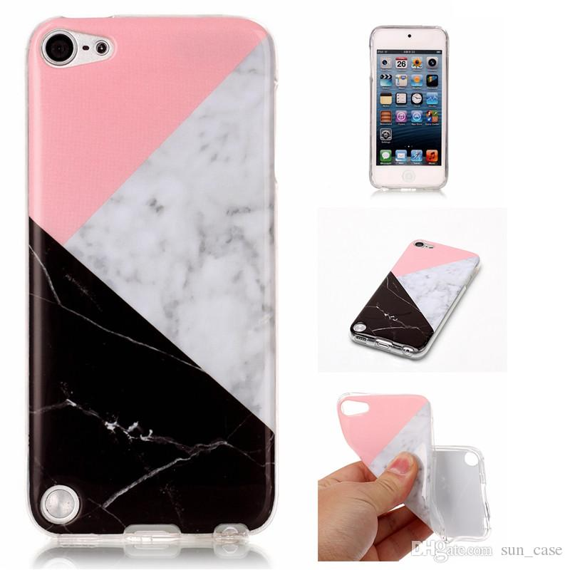 new arrival 3edc8 2568e Marble Case For Apple iPhone 4S 5C 5S 5SE 6S 6 7 8 Plus iPod Touch 5/6 TPU  IMD Soft Gel Rubber Soft Back Phone Cover 10pcs