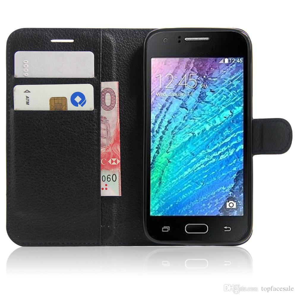 Diforate New Arrival Luxury Leather Wallet Phone Flip Cover Pouch Case For Samsung J2 2016 J210F/J2 Pro 2016