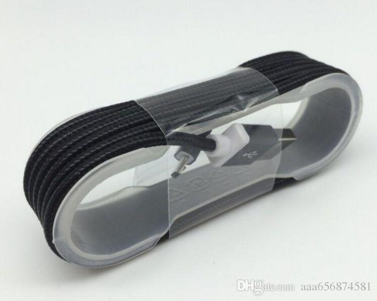 / Haute qualité 1.5M Nylon tressé Metal Plug Micro ligne de câble USB pour Samsung Galaxy s6 s7 s3 s4 htc