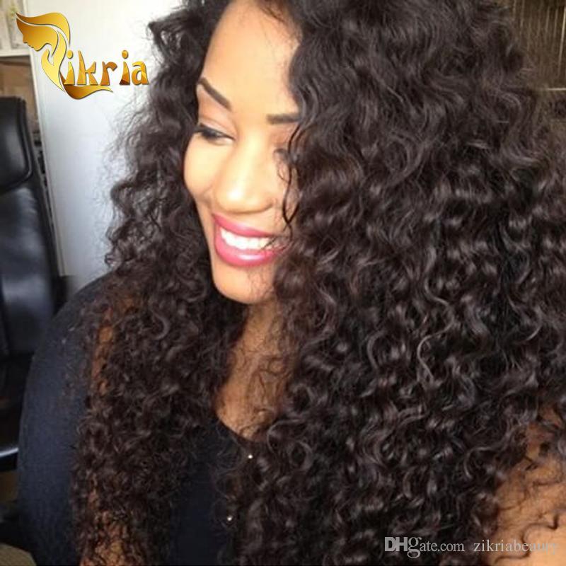 Curly Full Lace Wigs 10-24 pouces couleur naturelle brésilien indien mongol bouclés remy cheveux dentelle avant perruques de cheveux humains