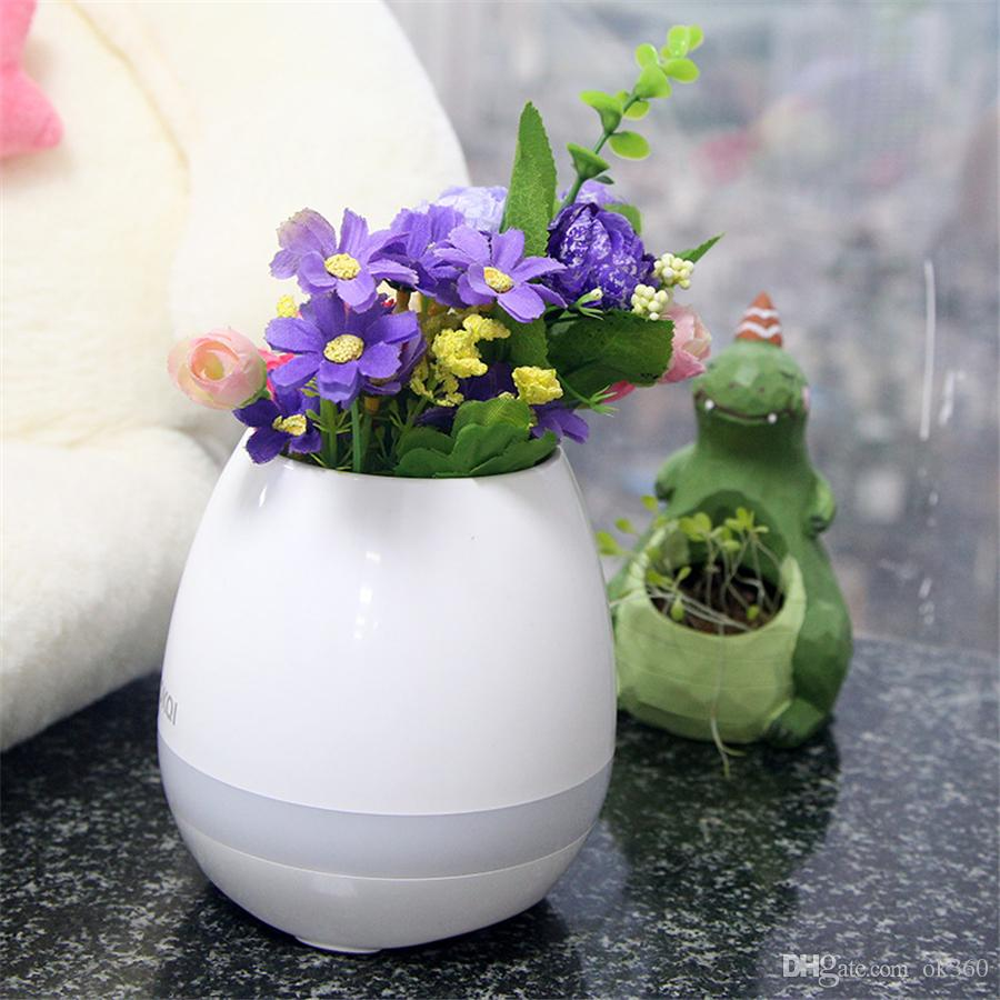 Online Cheap New Smart Mini Flower Pot Plastic Bluetooth Speaker ...