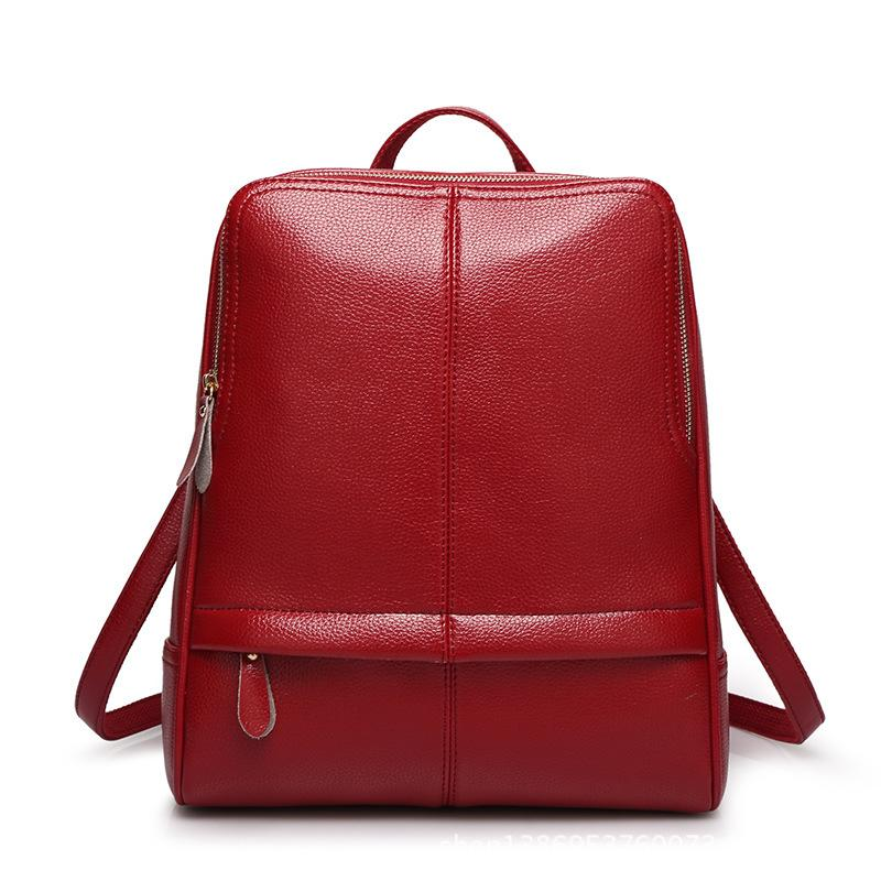 Vintage Pu Leather Backpack Purse Bookbag School Bag Daypack ...