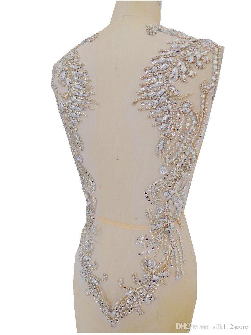 rhinestone to sew on wedding dress canada