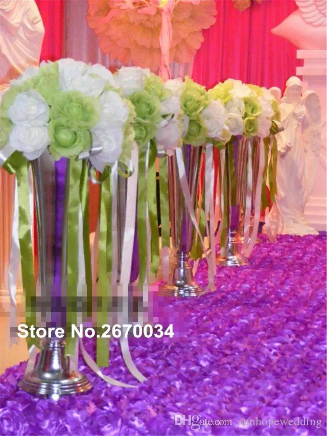 Yeni Satılık Düğün Dekoratif Ucuz Çiçek Standı Metal Merkezinde