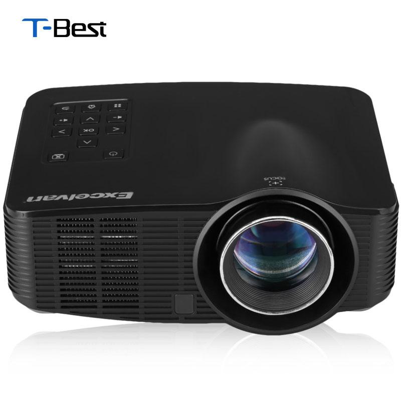 Wholesale-Excelvan LED3018 LED Android 4.2 Projector 1500Lumens AV/HDMI/USB/SD Home Theater For Gaming Education Meeting Projector