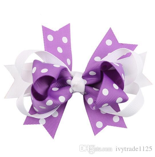 Ins Cute 5 Style Baby Girl Dots Barrettes Design Włosy Bowknot Dzieci Dzieci Dzieci Dzieci Spinki Dziewczyny Klipy Włosów Dziecko Akcesoria do włosów