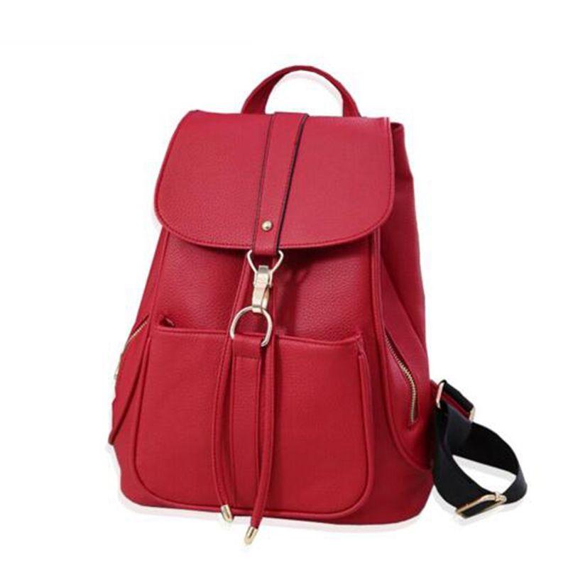 1c4ba8354fb7 Hot 2017 Stylish Women Backpacks Top Quality Leather Travel Bags ...