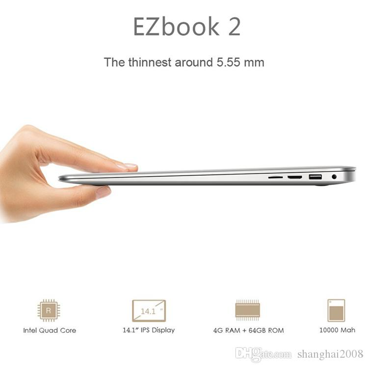 Jumper EZbook 2 A14 Laptop 14.1 Inch Windows 10 notebook computer 1920x1080 FHD Intel Cherry Trail Z8300 4GB 64GB ultrabook DHL shipping
