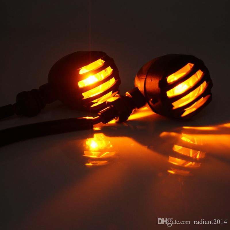 Preto luzes de giro motocicleta pisca luzes pisca pisca pisca pisca pisca pisca-pisca para honda harley clássico barreira âmbar luz
