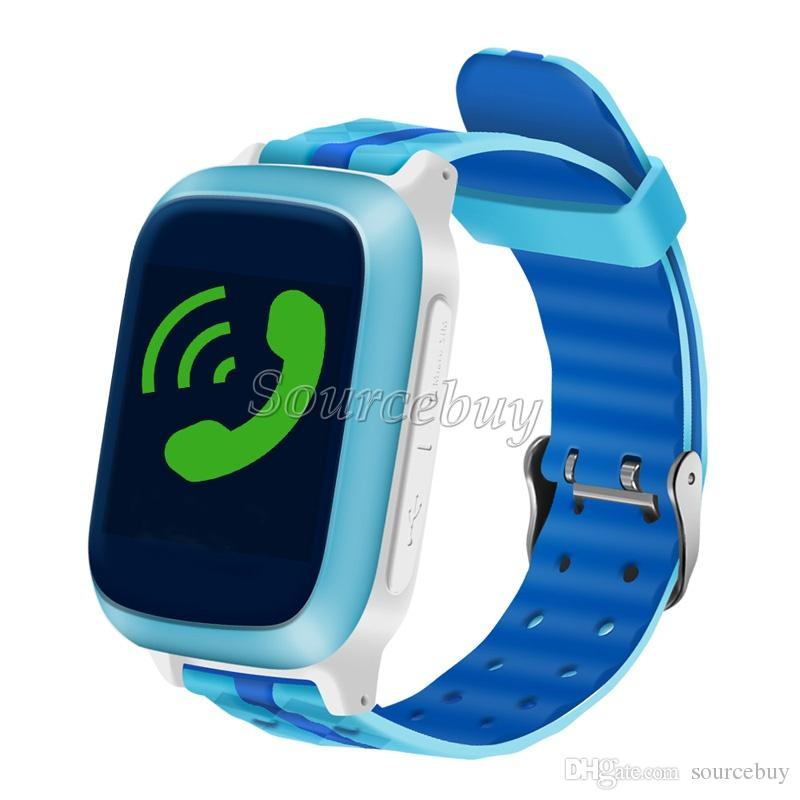 Kids Children Smart Watch DS18 IP65 Waterproof Tempered Glass TFT Screen SOS GPS LBS Location Sleep Tracking Baby Watches Wifi SIM Card Slot