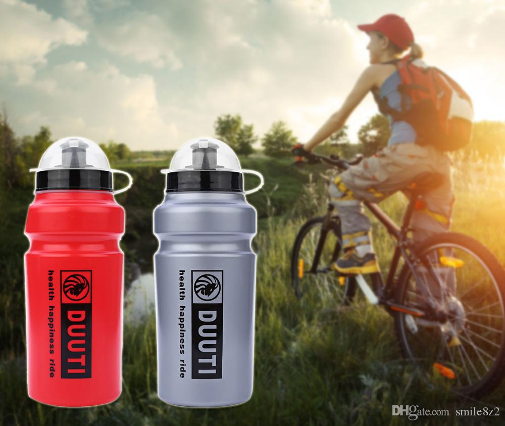 500ml DUUTI Mountain Bike Riding Water Bottles Plastic Sports Bottle for  Bicycle Outdoor Sports With A Transparent Plastic Cover +B