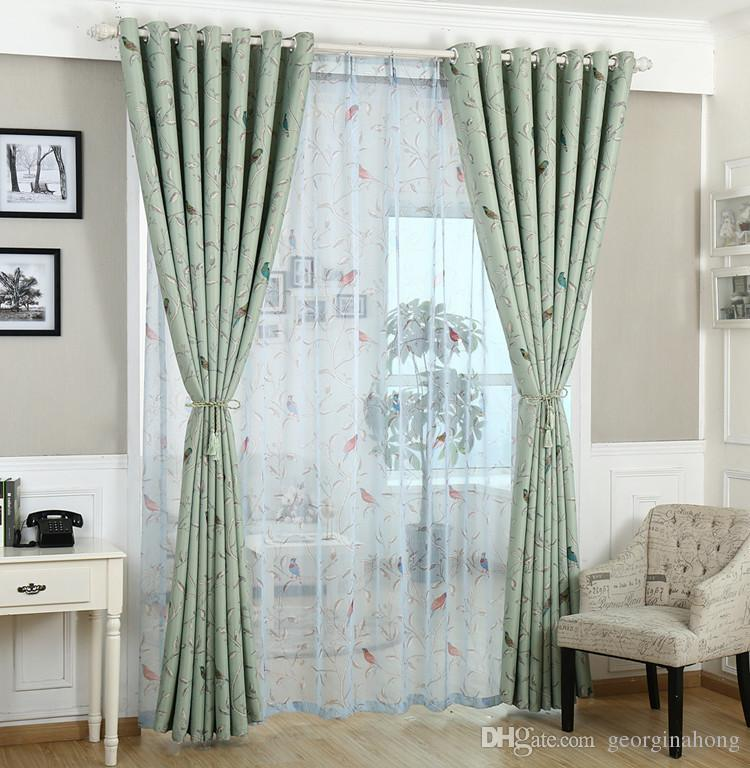 2017 Ready Made Curtain Modern Curtain For Living Room Window Kids Curtains  Children Bedroom Bird Curtain And Tulle Blackout From Georginahong, ... Part 80