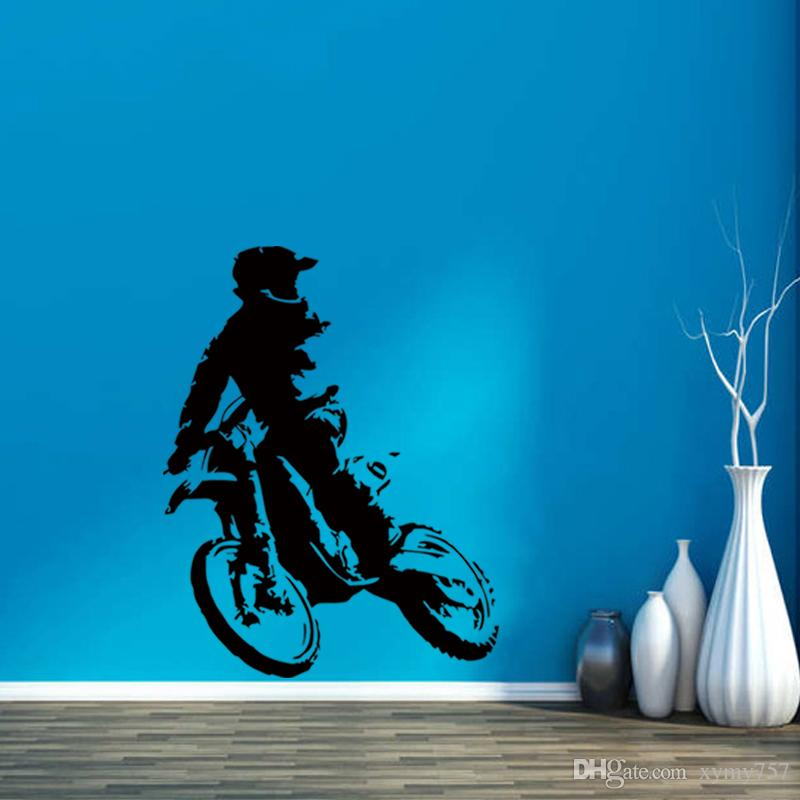 Cool Graphics Motor Cross Wall Sticker Home Decor Accessories Motorbikevinyl Self High Quality Creative Art Wall Decal For Boys Diy