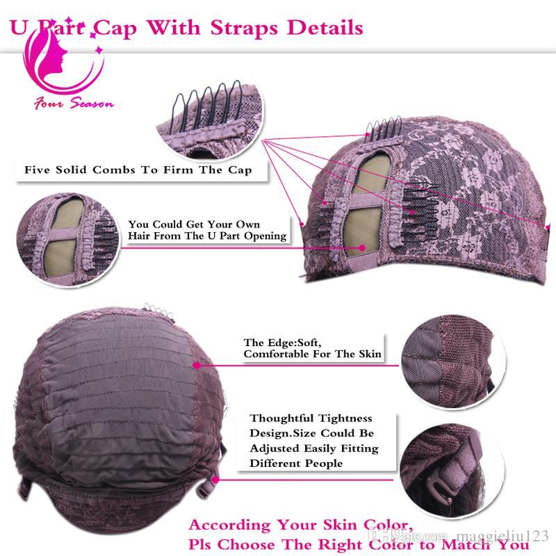 Virgin U part Wigs Middle Part U Part Human Hair Wigs Peruvian Virgin Hair Upart Wigs For Black Women Unprocessed Hair