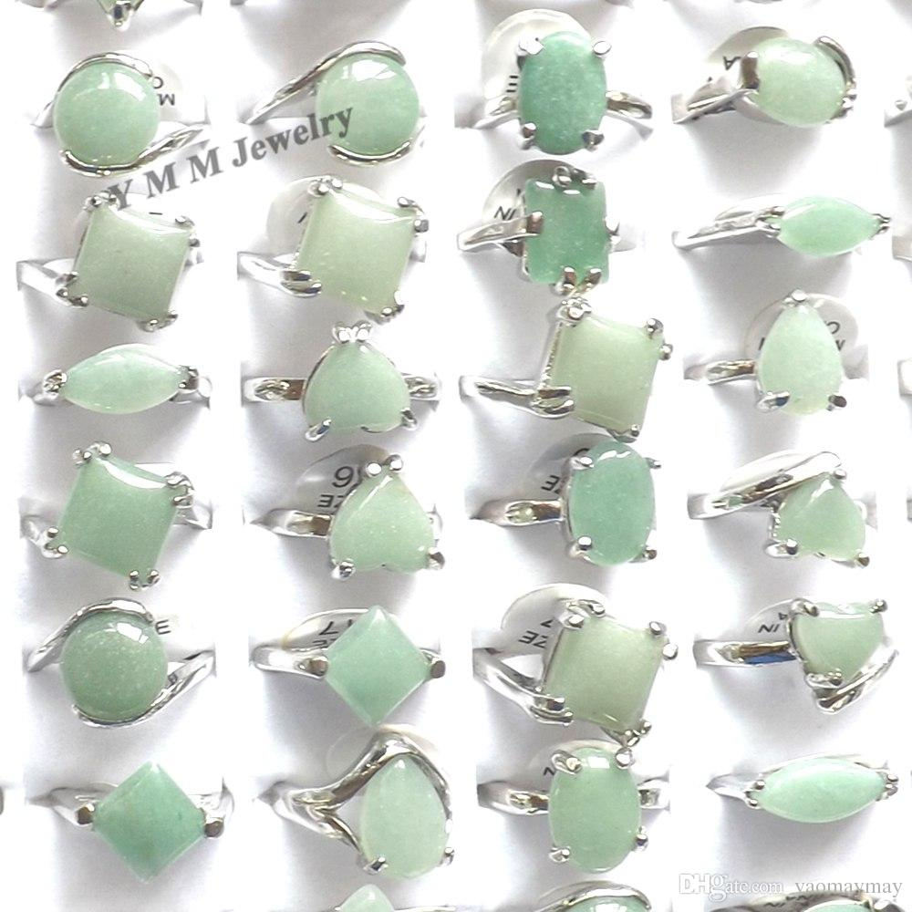 Natural Green Jade Rings Mixed Size For Women Cheap Rings For Promotion