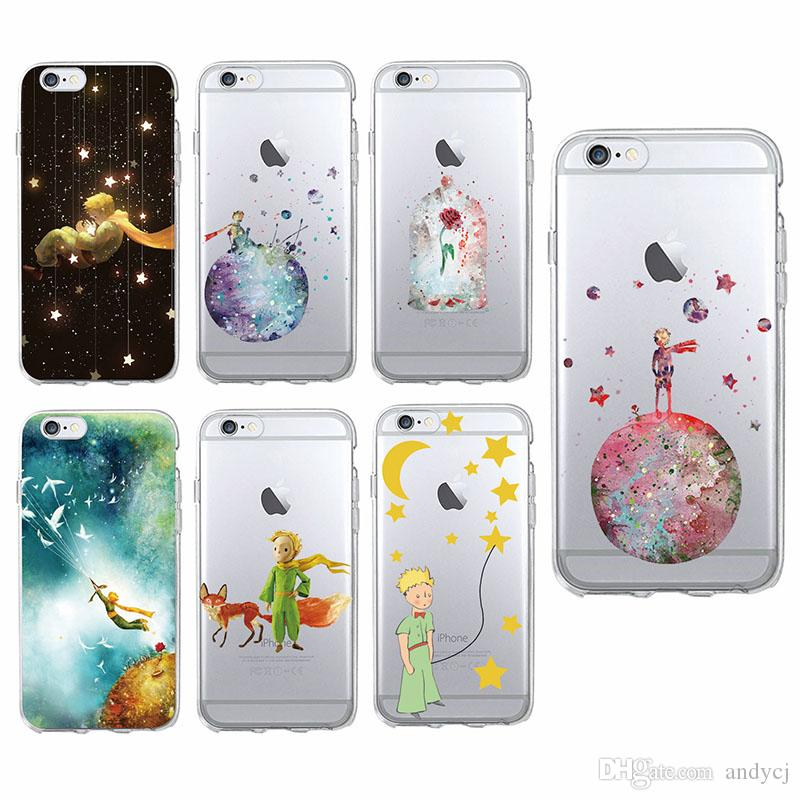 3bd020e951b Fundas Celular Lindo Lonely Le Petit Little Prince Fox Rose Color De Agua  Suave Funda Para Teléfono Para IPhone 7 7 Plus 6 6S 6 Plus 5 5S SAMSUNG  Fundas ...