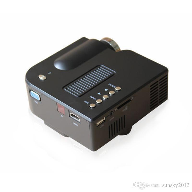 Unic UC28 Mini Projecteur LED Projecteurs portables Lecteur multimédia Jeu de cinéma maison 1080P Compatible VGA HDMI USB TF Beamer